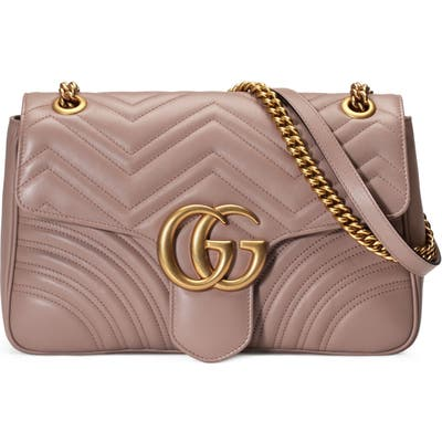 Gucci Medium Matelasse Leather Shoulder Bag - Beige