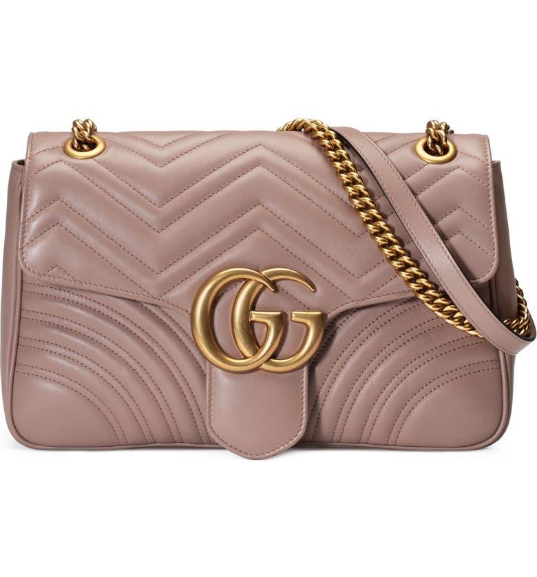 GUCCI Medium Matelassé Leather Shoulder Bag, Main, color, 256