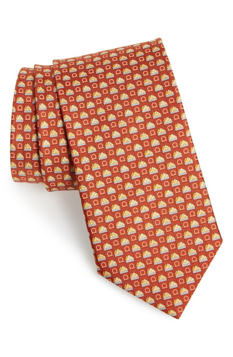SALVATORE FERRAGAMO Silk Tie, Main, color, F. COTTO