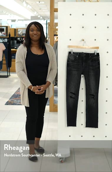 Stevie Ripped Crop Straight Leg Jeans, sales video thumbnail