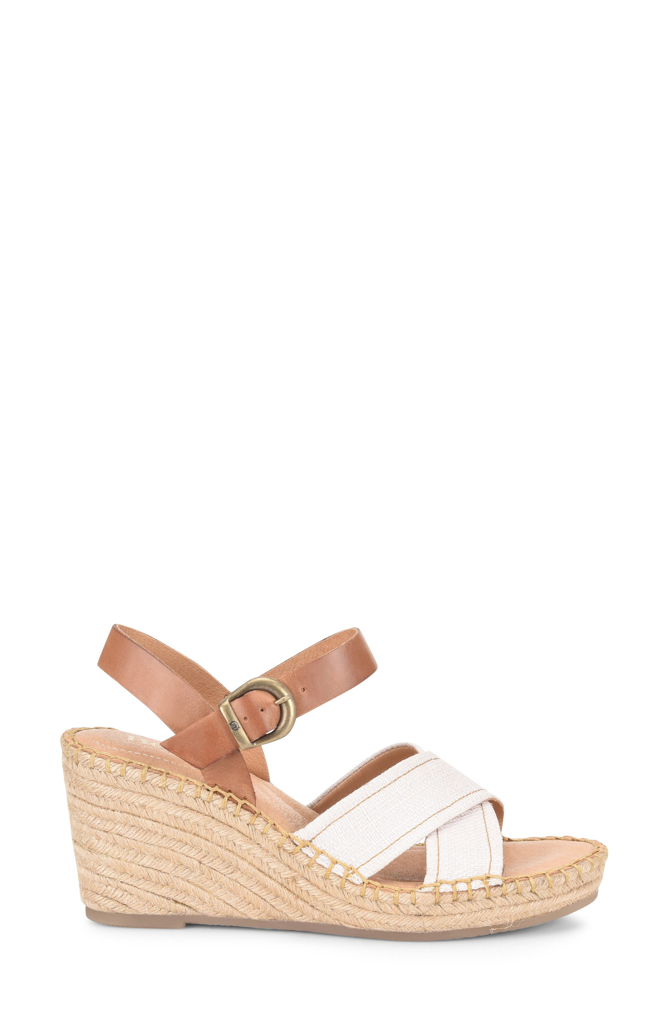 ,                             Payette Wedge Sandal,                             Alternate thumbnail 3, color,                             NATURAL/ TAN LEATHER