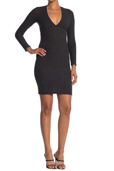 Image of Velvet Torch Long Sleeve Empire Sweater Mini Dress