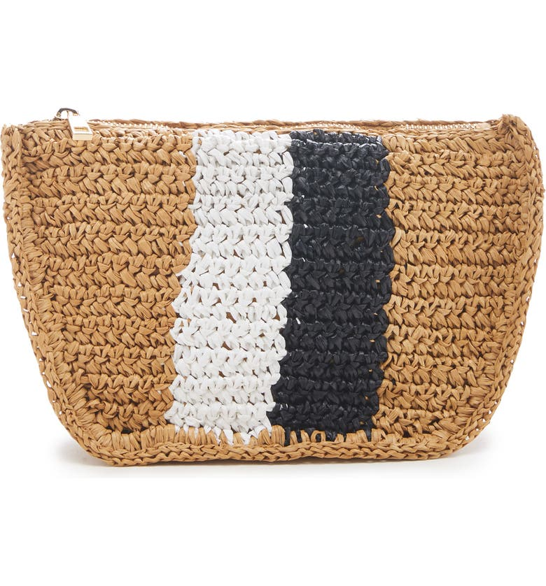 SOLE SOCIETY Chade Stripe Woven Crossbody Bag, Main, color, NATURAL