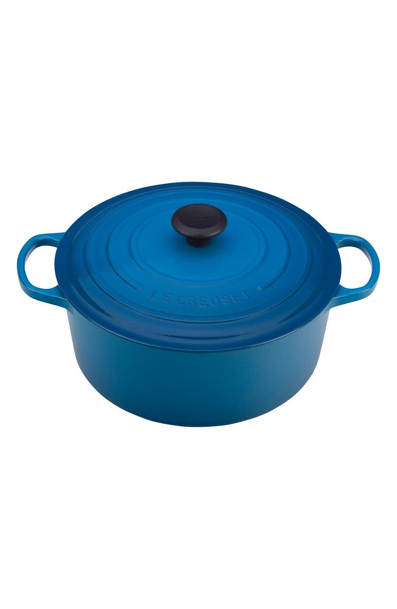 LE CREUSET Signature 4 1/2 Quart Round Enamel Cast Iron French/Dutch Oven, Main, color, MARSEILLE