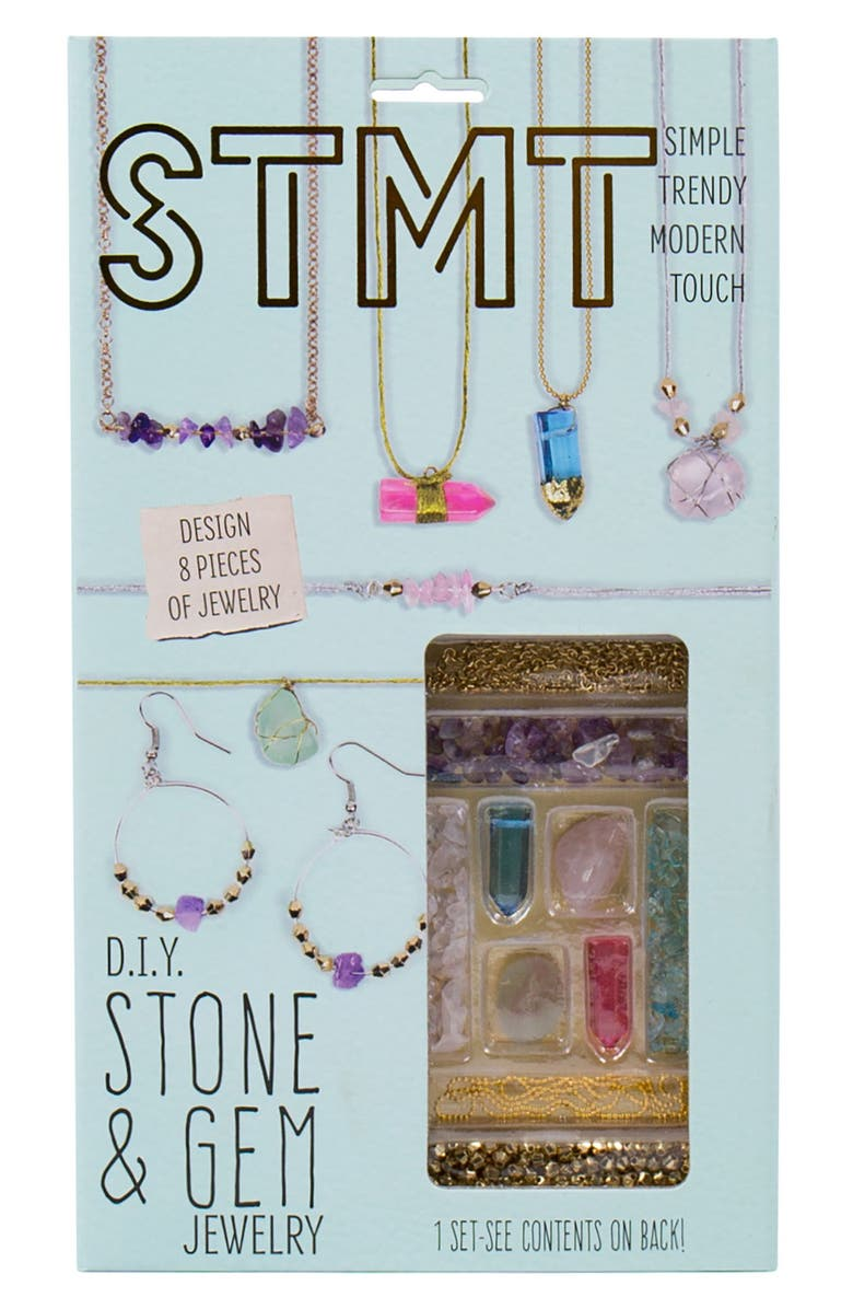 STMT DIY Semiprecious Stone Jewelry Kit, Main, color, BLUE