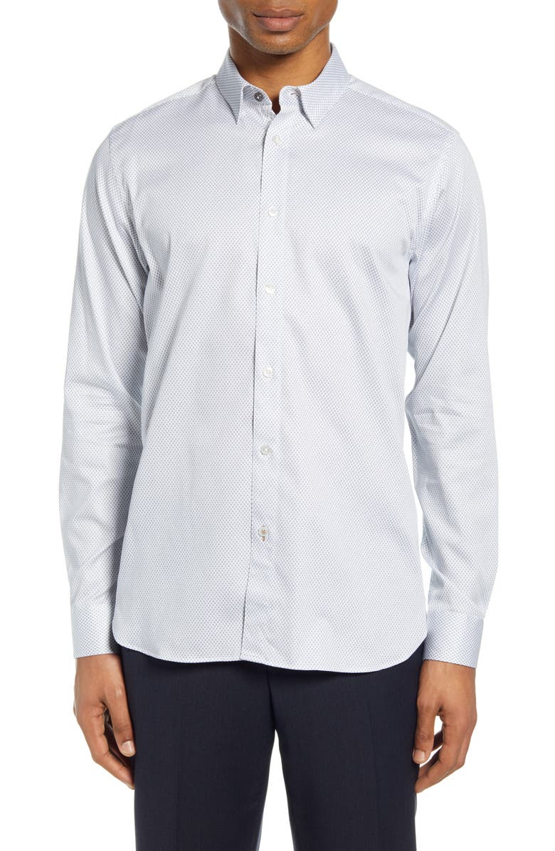 TED BAKER LONDON Tillnow Button-Up Shirt, Main, color, WHITE