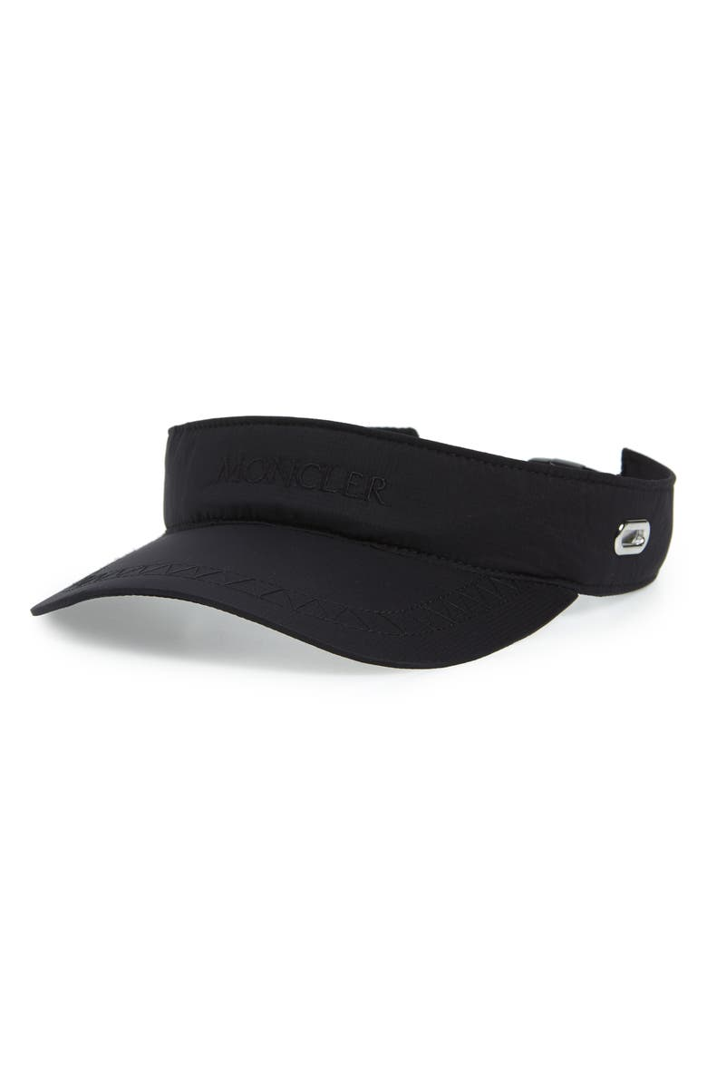 MONCLER Nylon Visor, Main, color, 001