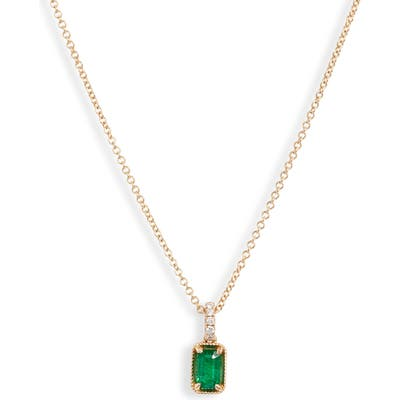 Bony Levy El Mar Emerald & Diamond Pendant Necklace (Nordstrom Exclusive)