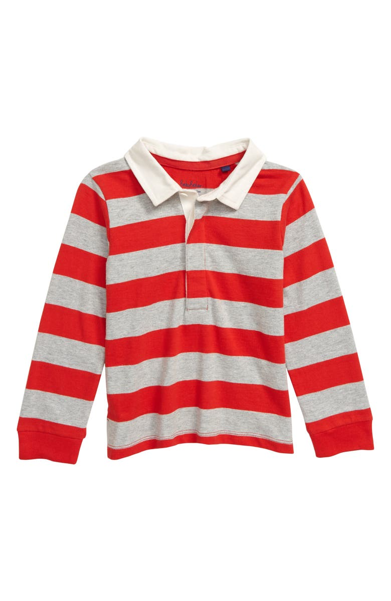 MINI BODEN Rugby Stripe Polo Shirt, Main, color, 614