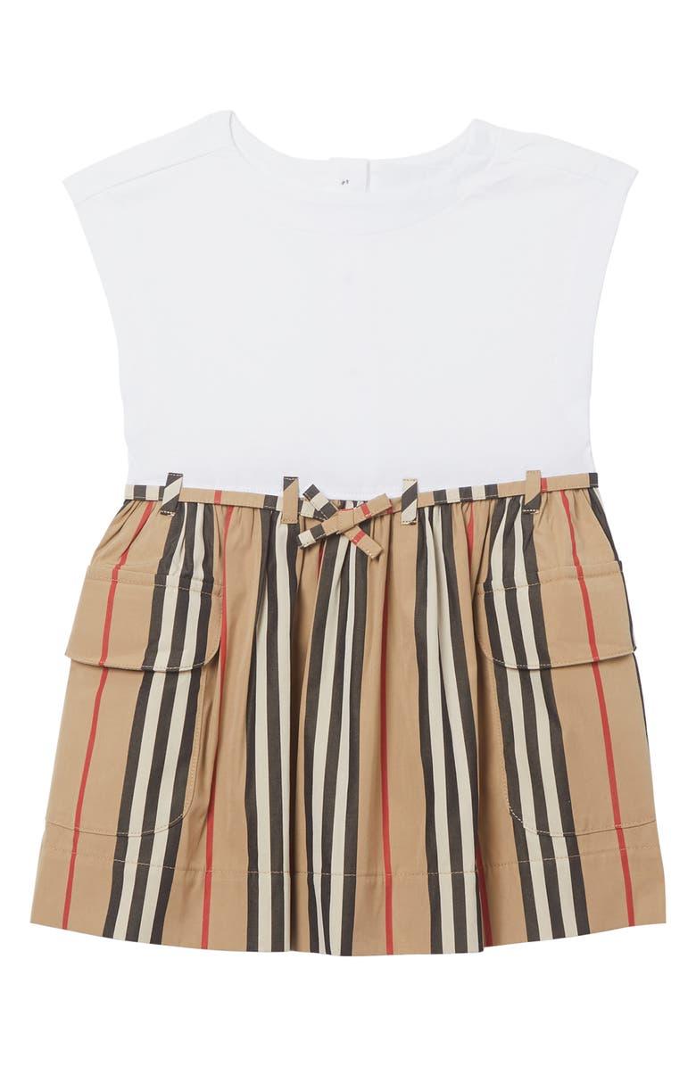 BURBERRY Ramona Icon Dress, Main, color, WHITE