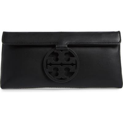 Tory Burch Miller Leather Clutch - Black