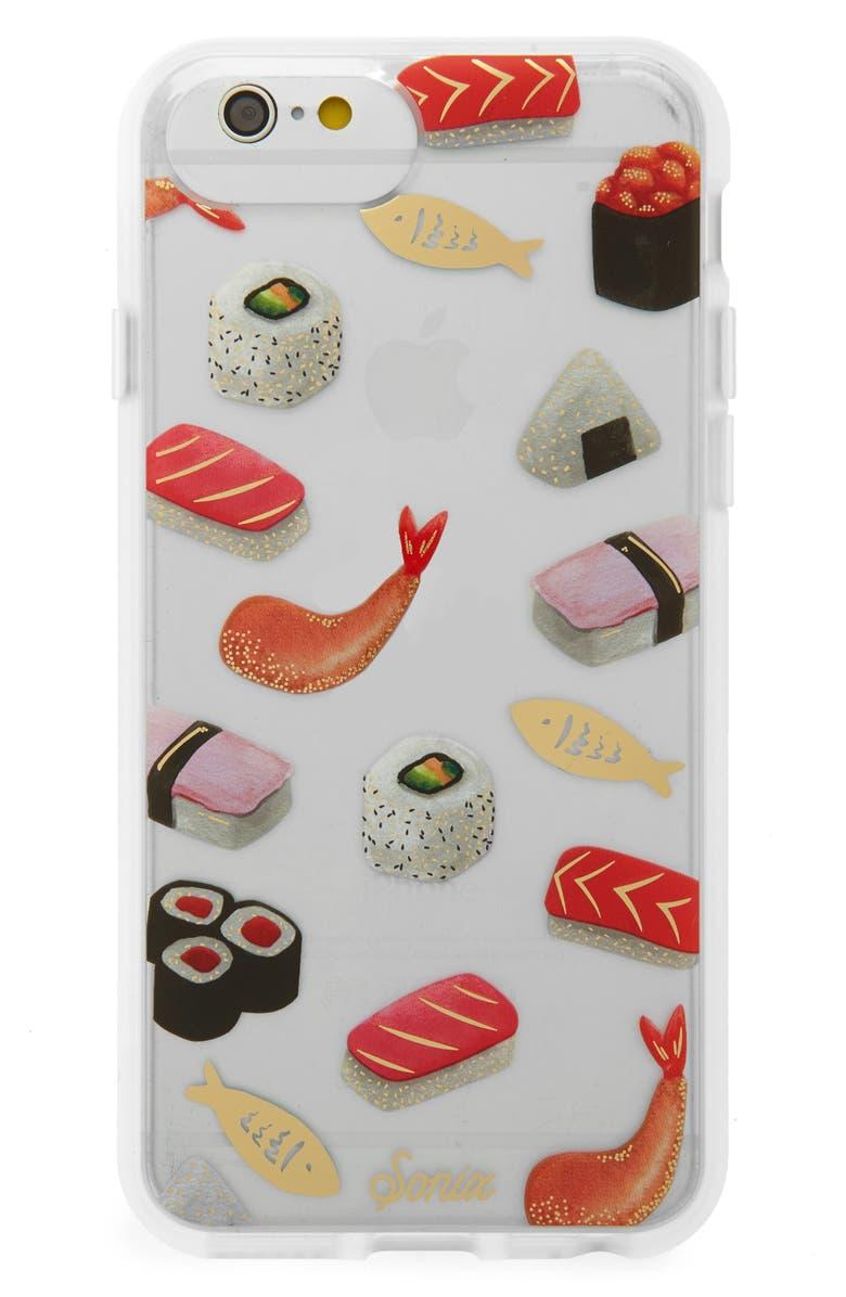 SONIX Sushi iPhone 6/6s/7/8 & 6/6s/7/8 Plus Case, Main, color, BLACK
