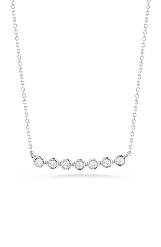 Dana Rebecca Designs Lulu Jack Bezel Diamond Bar Necklace In White Gold