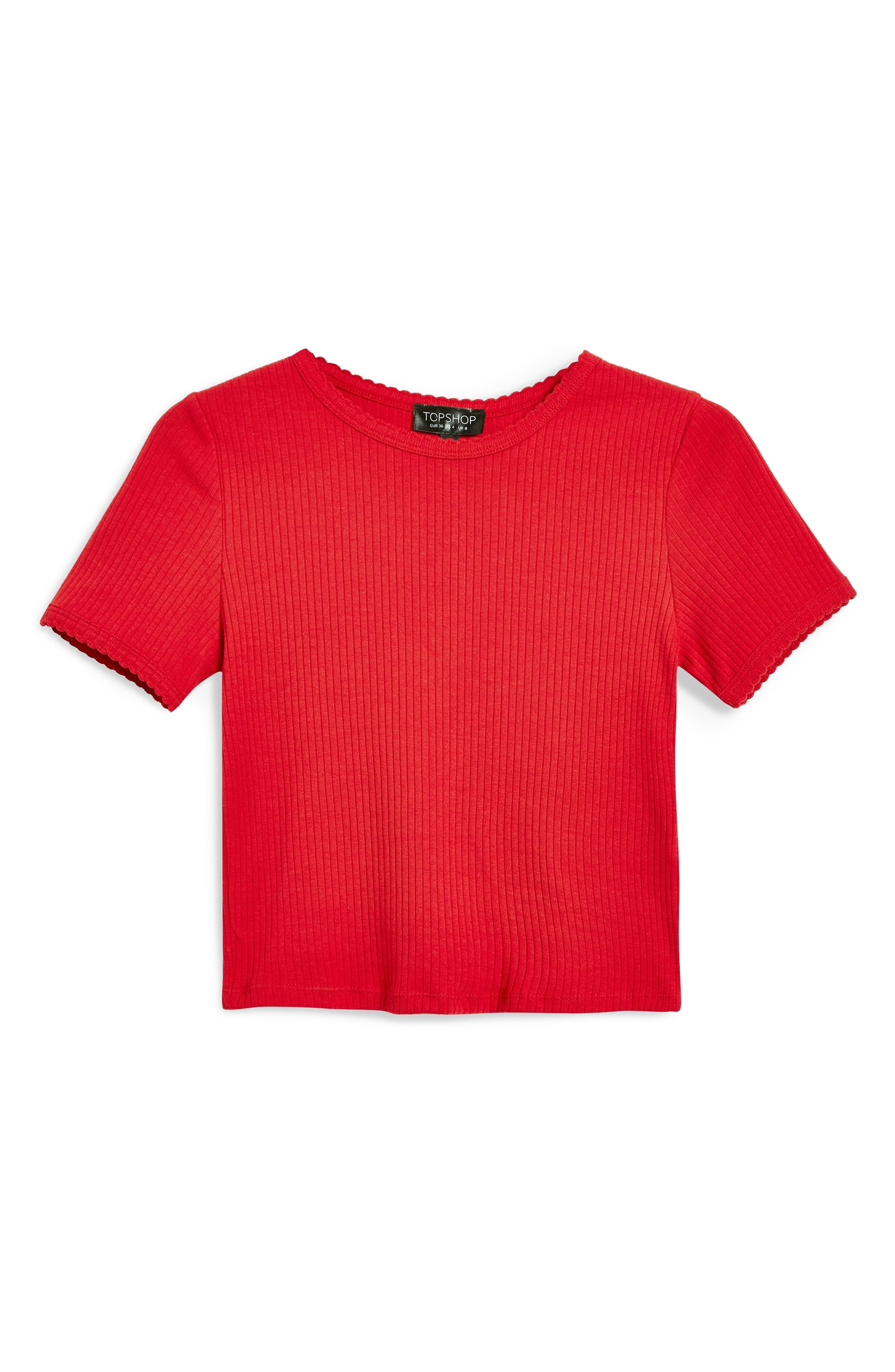 ,                             Scallop Edge Tee,                             Alternate thumbnail 18, color,                             600