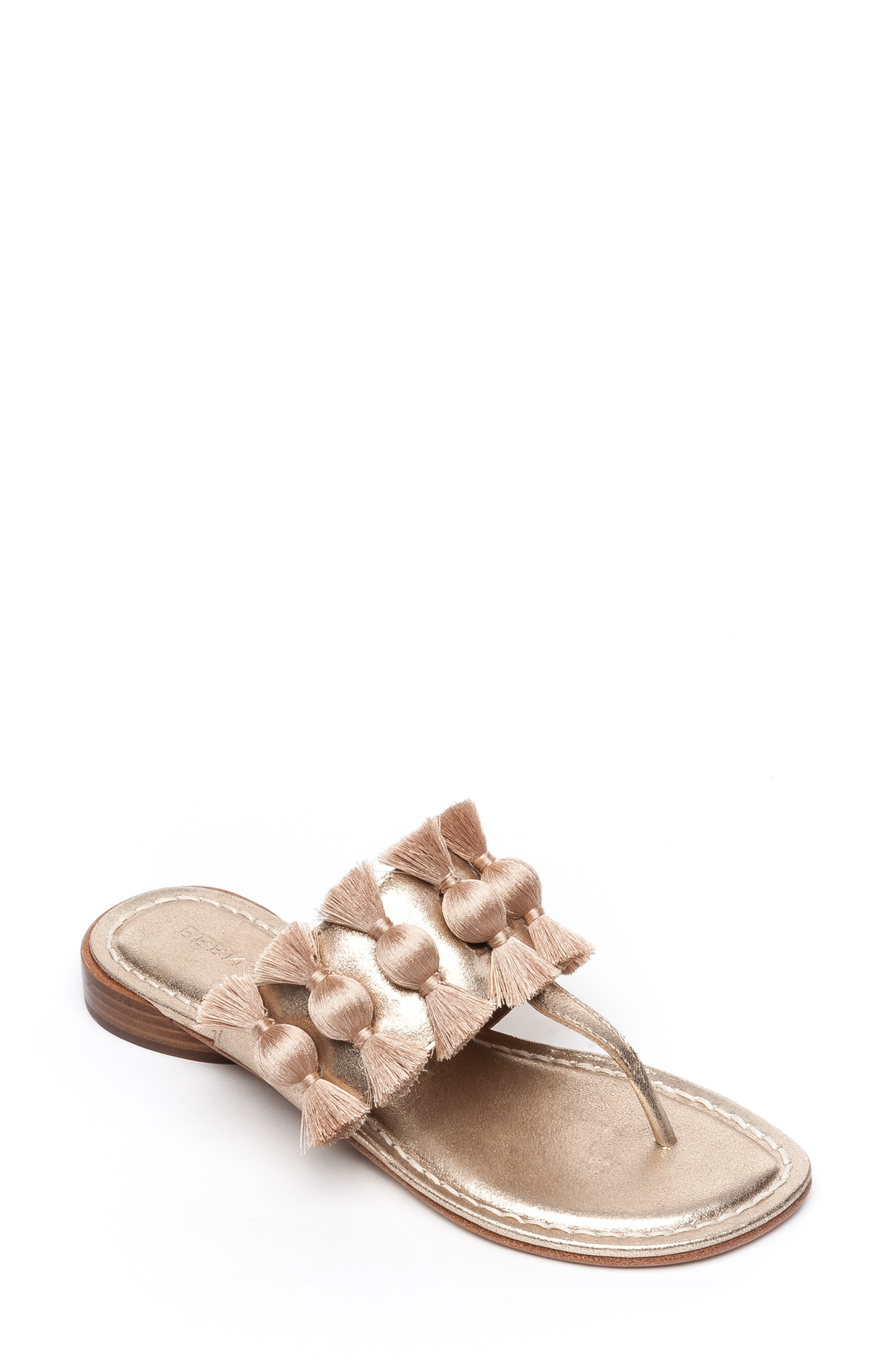 Bernardo Footwear Tara Flip Flop- Metallic