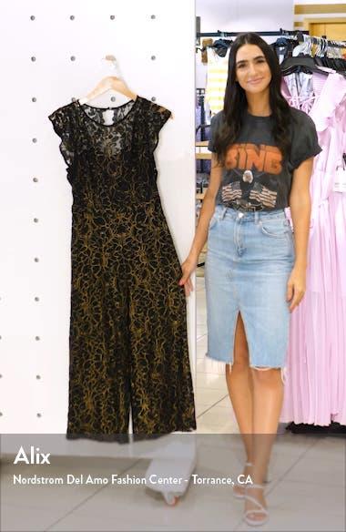 Flounce Sleeve Lace Jumpsuit, sales video thumbnail