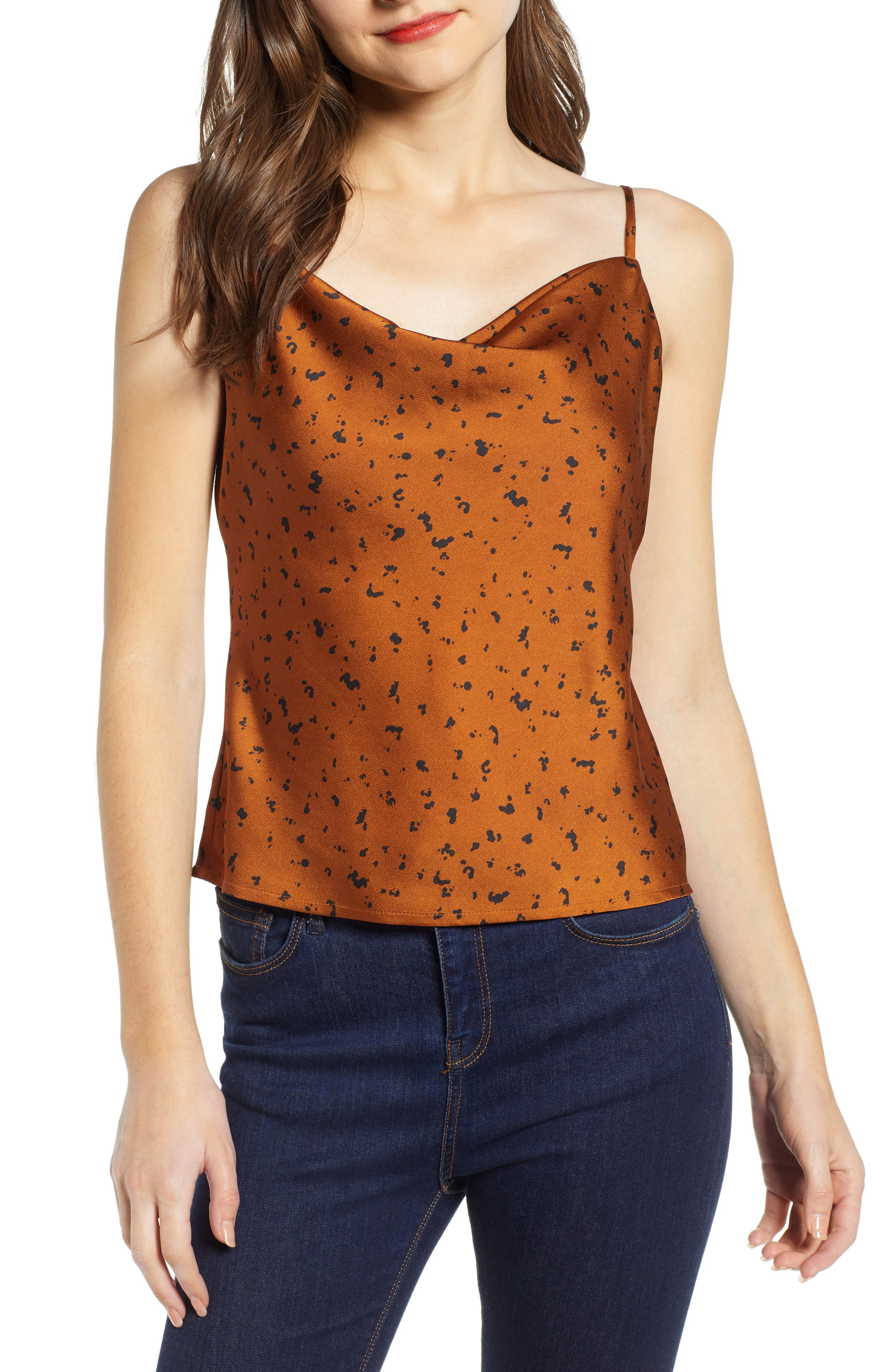 J.o.a. Cowl Neck Camisole, Brown