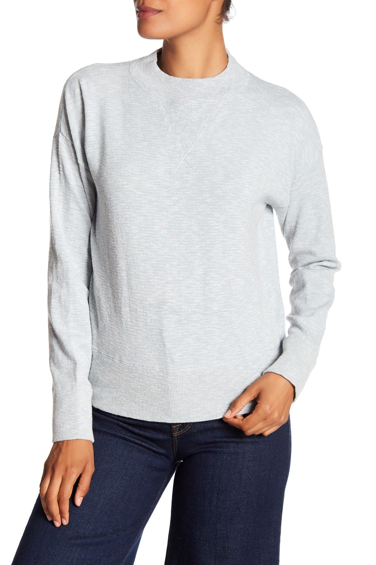 Image of Madewell Relaxed Mock Neck Sweatshirt