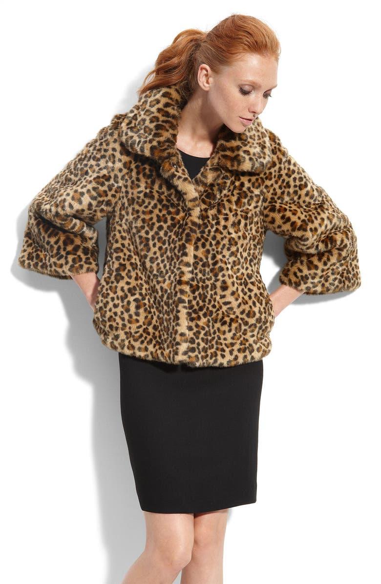 KATE SPADE NEW YORK 'lynda' faux fur jacket, Main, color, 983