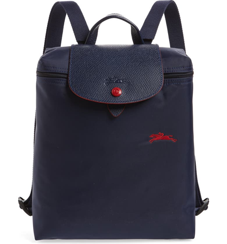 LONGCHAMP Le Pliage Club Backpack, Main, color, NAVY
