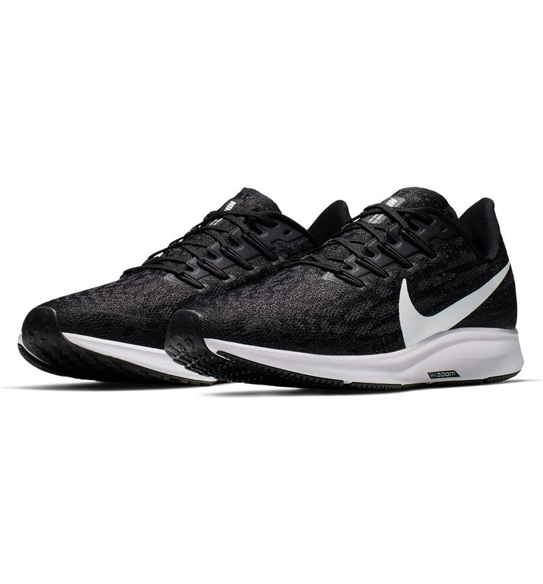 NIKE Air Zoom Pegasus 36 Running Shoe, Main, color, BLACK/ WHITE/ THUNDER GREY
