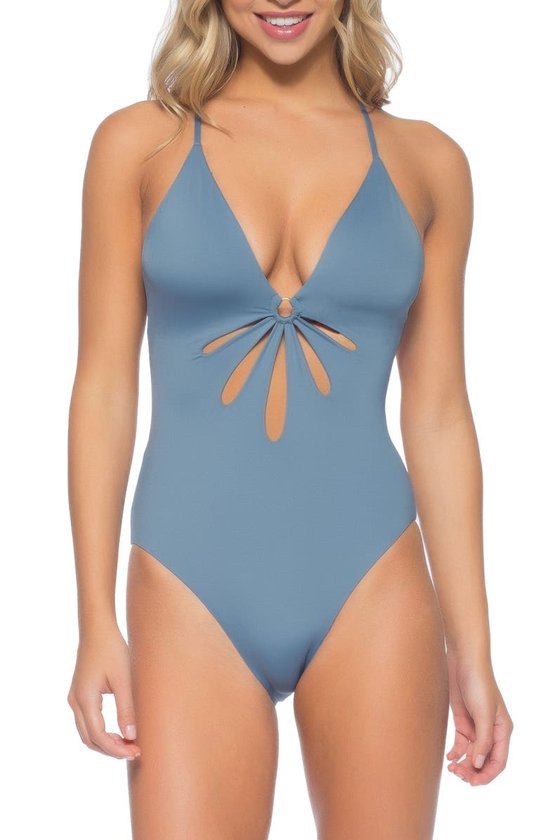 ISABELLA ROSE Cannes Maillot One-Piece Swimsuit, Main, color, SHORE