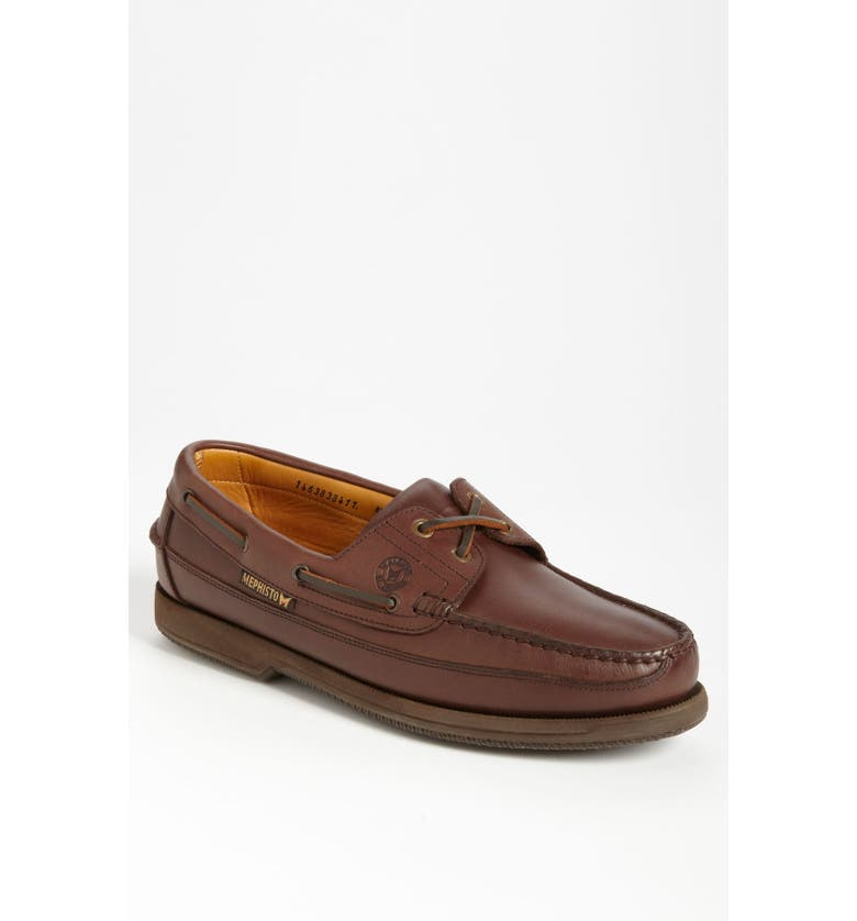 MEPHISTO 'Hurrikan' Boat Shoe, Main, color, BROWN LEATHER