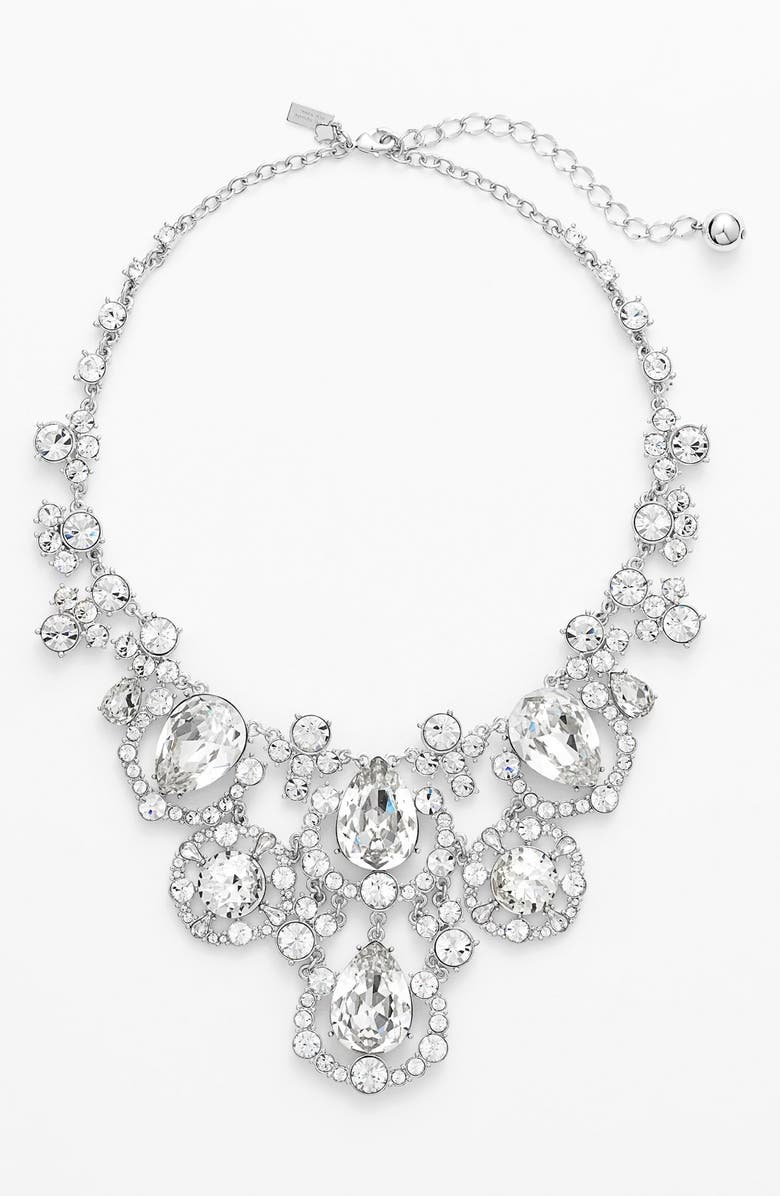 KATE SPADE NEW YORK 'grand debut' bib necklace, Main, color, 042