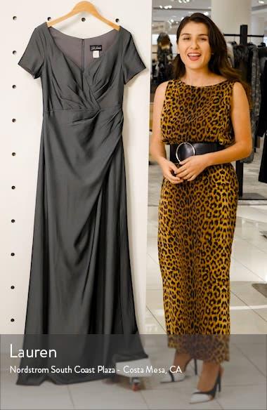 Sweetheart Neck Jersey Evening Dress, sales video thumbnail