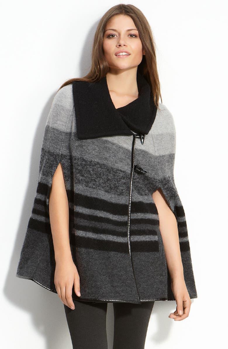 CASLON<SUP>®</SUP> Merino Wool Toggle Cape, Main, color, 001