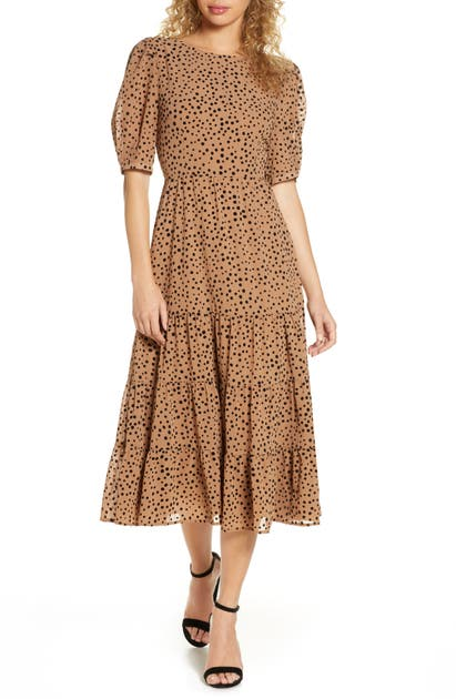 Bb Dakota Dresses DOT PRINT MIDI DRESS