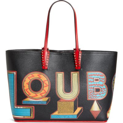 Christian Louboutin Cabata Alphabet Leather Tote - Red (Nordstrom Exclusive)