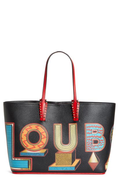 Christian Louboutin Totes CABATA ALPHABET LEATHER TOTE - RED (NORDSTROM EXCLUSIVE)