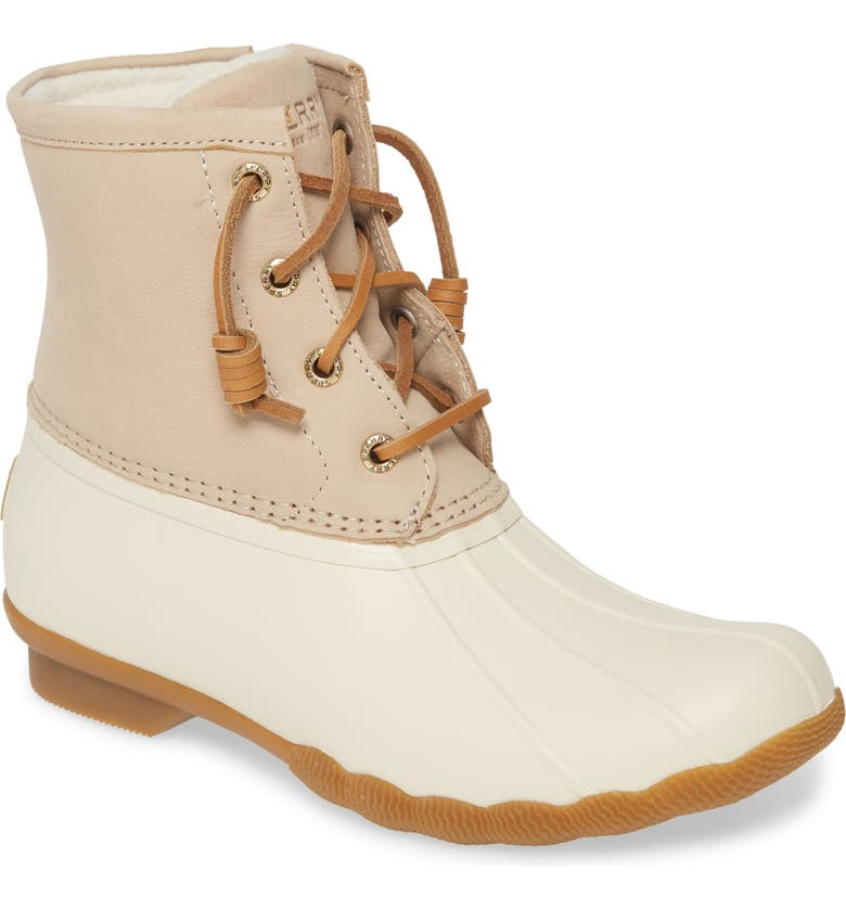 SPERRY Saltwater Rain Boot, Main, color, IVORY LEATHER