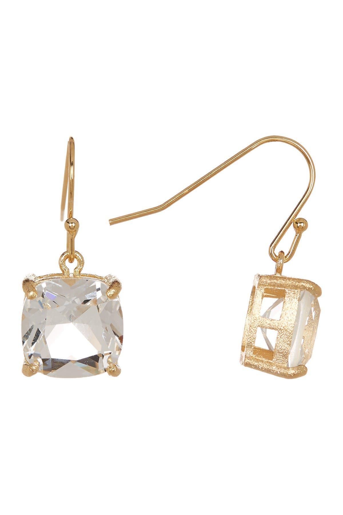 Image of Rivka Friedman Rock Crystal Drop Earrings
