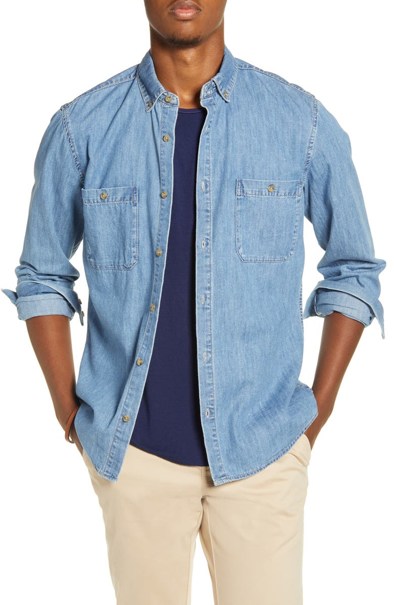 X Alex Costa Button Down Chambray Shirt by Bp.