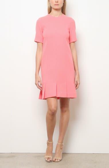 Seamed Stretch Wool Blend Minidress, video thumbnail