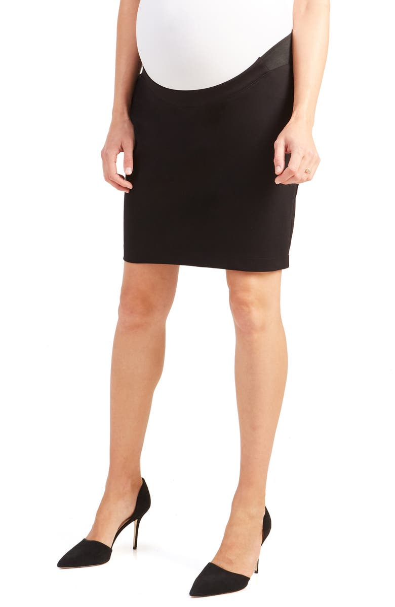 INGRID & ISABEL<SUP>®</SUP> Maternity Pencil Skirt, Main, color, JET BLACK