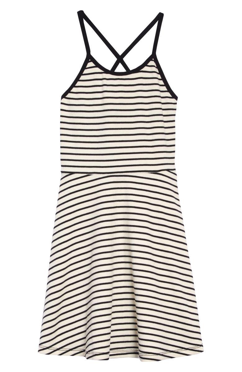 TUCKER + TATE Stripe Skater Dress, Main, color, 900