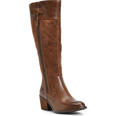 B?rn Uchee Knee High Boot Wide Calf- Brown