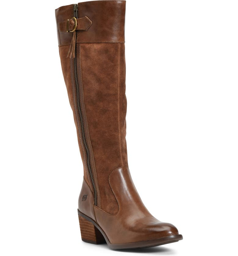 BØRN Uchee Knee High Boot, Main, color, RUST DISTRESSED LEATHER