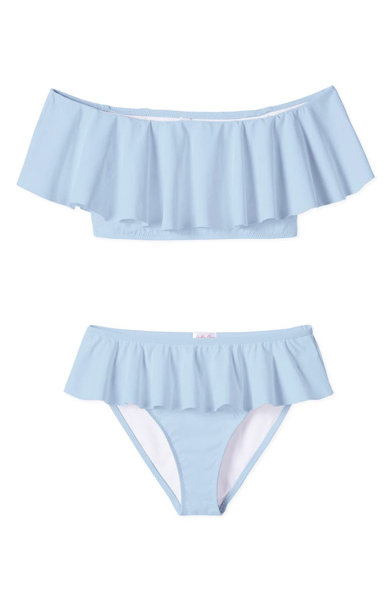 STELLA COVE Ruffle Two-Piece Swimsuit, Main, color, BLUE