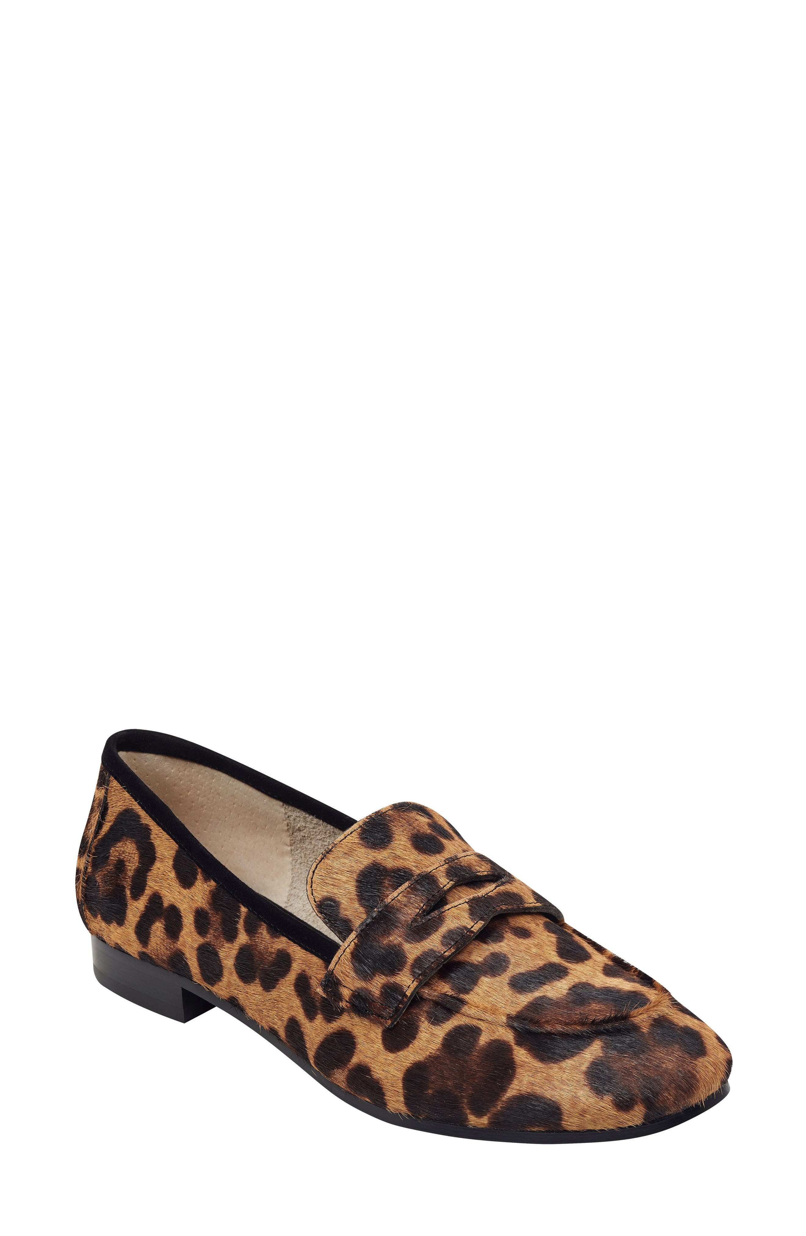 Chang Penny Loafer, Main, color, LEOPARD PRINT CALF HAIR