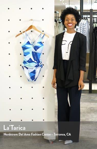 Palm Reader Mio Surplice Underwire One-Piece Swimsuit, sales video thumbnail