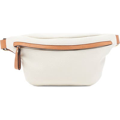 Sole Society Lacie Faux Leather Belt Bag - Beige
