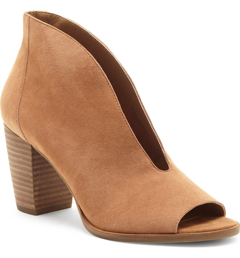 LUCKY BRAND Joal Bootie, Main, color, MACAROON SUEDE