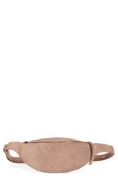 Nanushka Belt LUBA SUEDE BELT BAG - BROWN