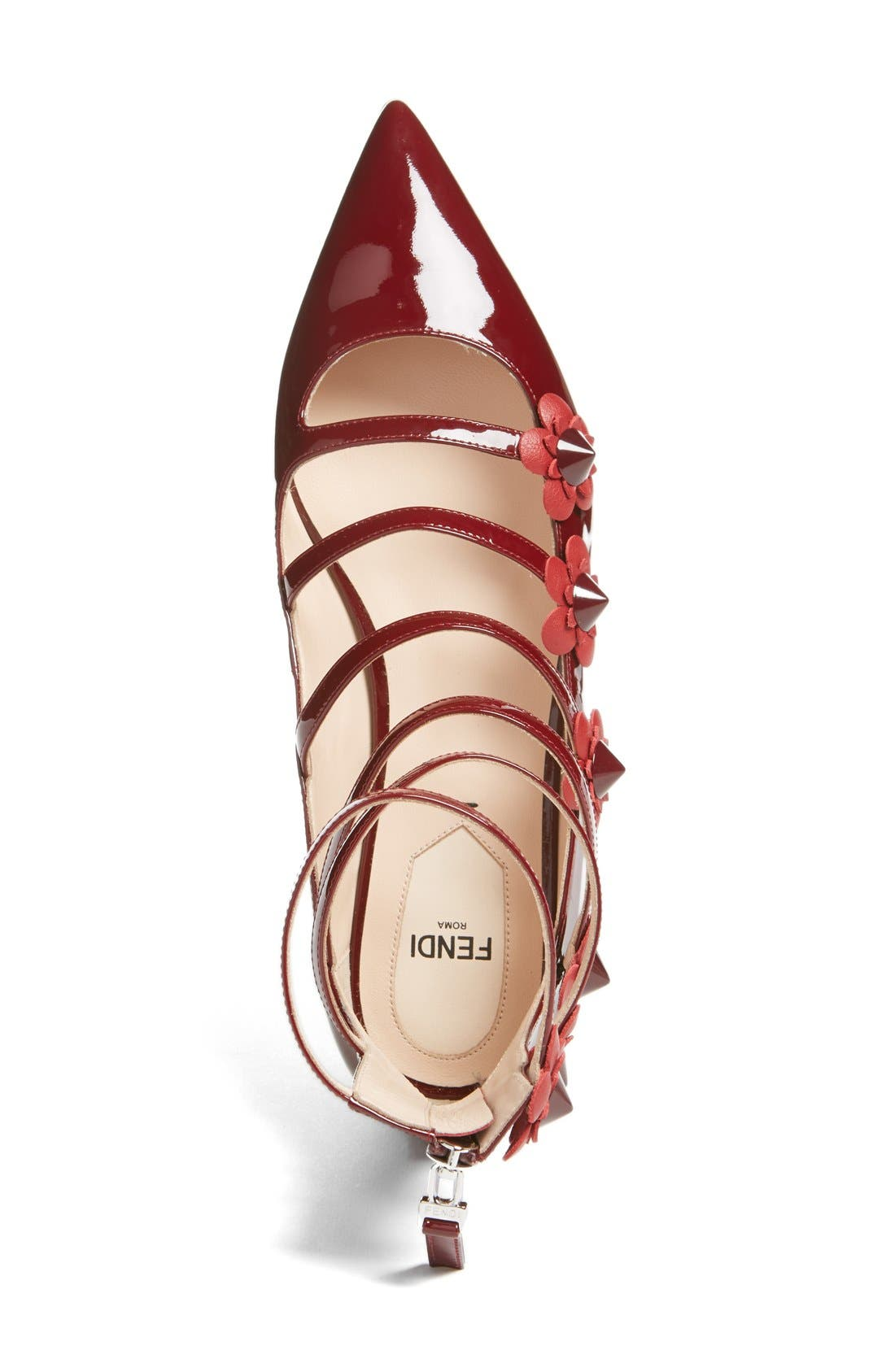 ,                             'Flowerland' Strappy Flat,                             Alternate thumbnail 11, color,                             601