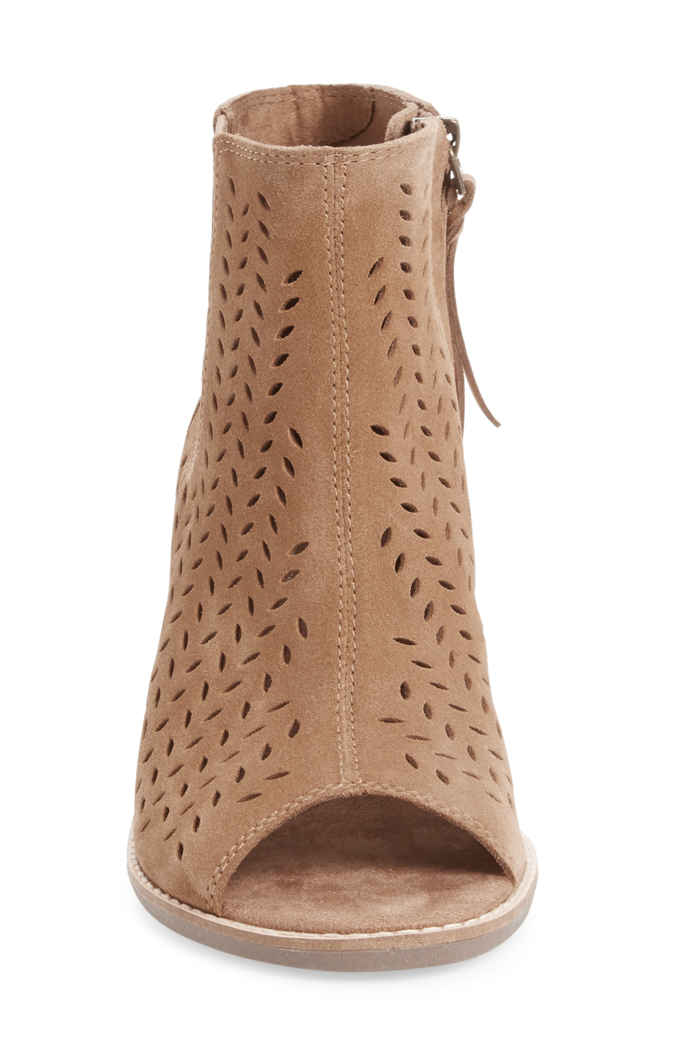 ,                             Majorca Perforated Suede Bootie,                             Alternate thumbnail 11, color,                             210