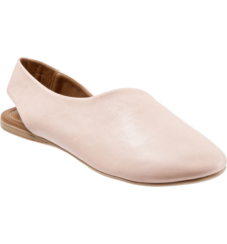 BUENO Keep Slingback Flat, Main, color, PALE PINK LEATHER